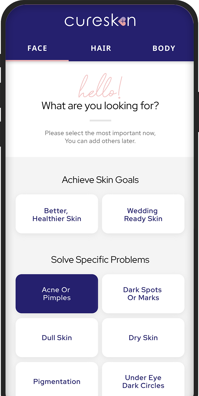 How cureskin work, skin analysis, cureskin app, skin problems, hair problems, skin treatment kit, dermatologist, skin doctor