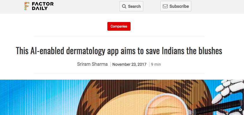 """This AI-enabled dermatology app aims to save Indians the blushes"""