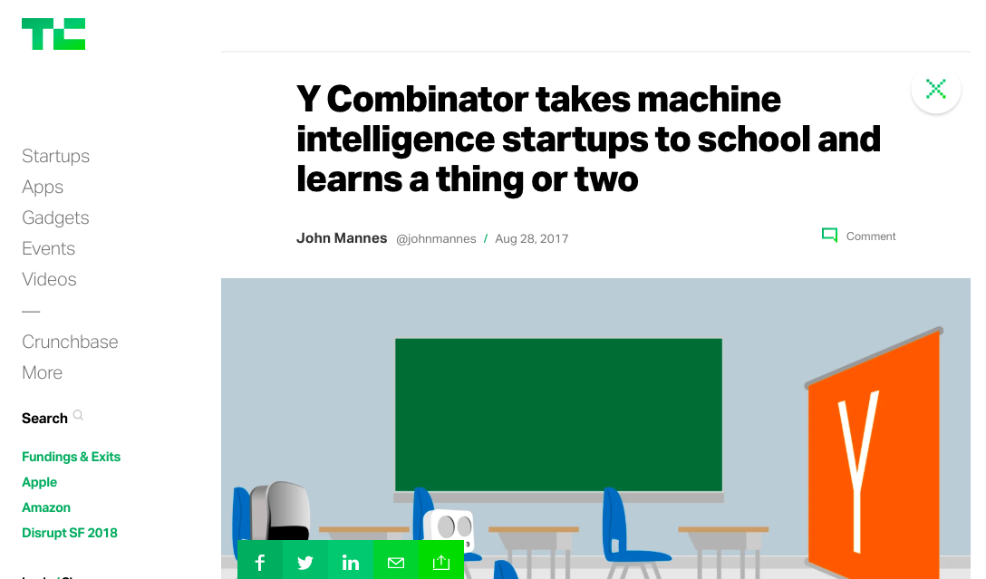 """Y Combinator takes machine intelligence startups to school and learns a thing or two"""
